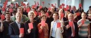 v.l.n.r. Kai Gehring, Christina Kampmann, Barbara Steffens, Torsten Schrodt, Rudolf Jelinek